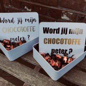 Chocotoffe doos voor meter of peter