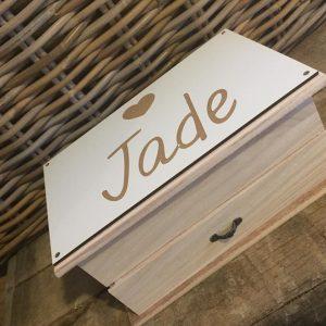 Houten juwelenkistje voor Jade